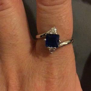 imitation sapphire ring